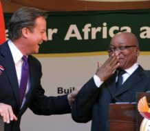 British Prime Minister David Cameron visits South Africa