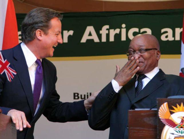 British Prime Minister David Cameron visits South Africa